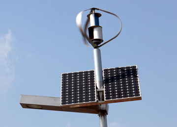 Wind Solar Hybrid Street Light System