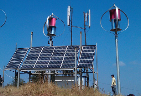 Maglev Vawt Wind Solar Hybrid Power System For Remote Area Telecom Station
