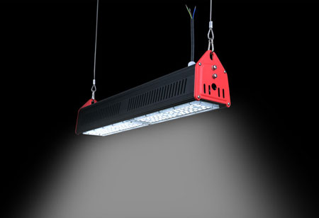 Motion Sensor Linear UFO LED High Bay Light Chain Hanging DLC ETL 150W 200W 240W