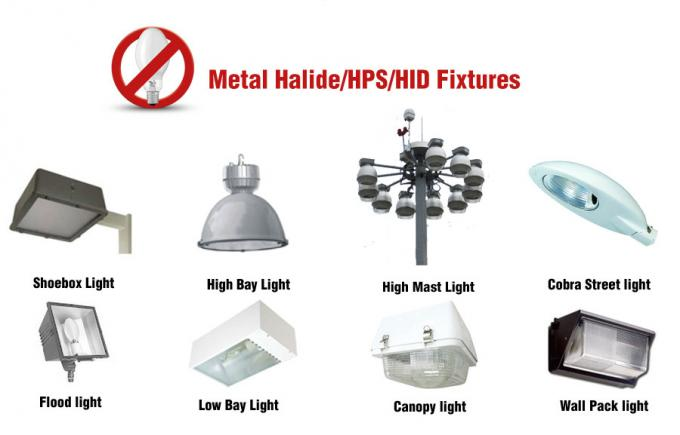 HID UFO LED High Bay Light Fixture 60W 80W 100W Rotatable Arm Length Adjustable